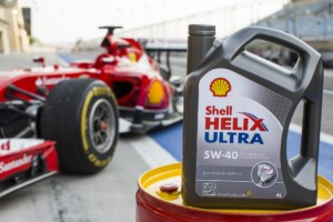 Shell Helix Ultra with PurePlus Technology is used on the Formula One race track by Ferrari.