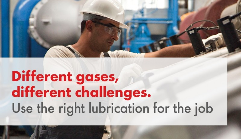 Different gases, different challenges. Use the right lubrication for the job